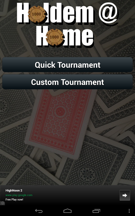 Holdem @ Home- screenshot