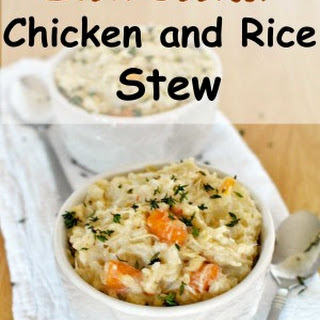 Slow Cooker Chicken and Rice Stew.