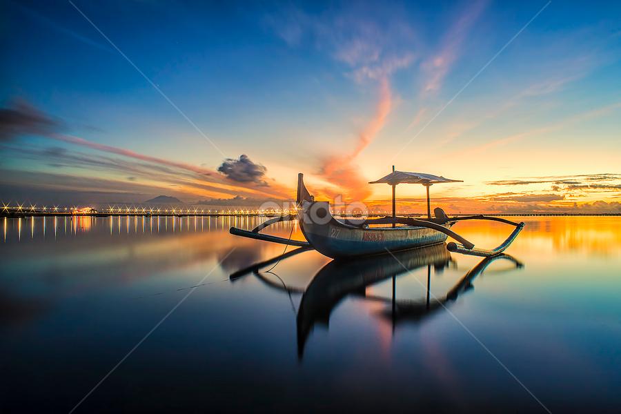 .:: sparkling dawn ::. by Setyawan B. Prasodjo - Transportation Boats ( reflection, blue hour, star light, twilight, sunrise )