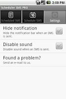 Screenshot of Scheduler SMS PRO