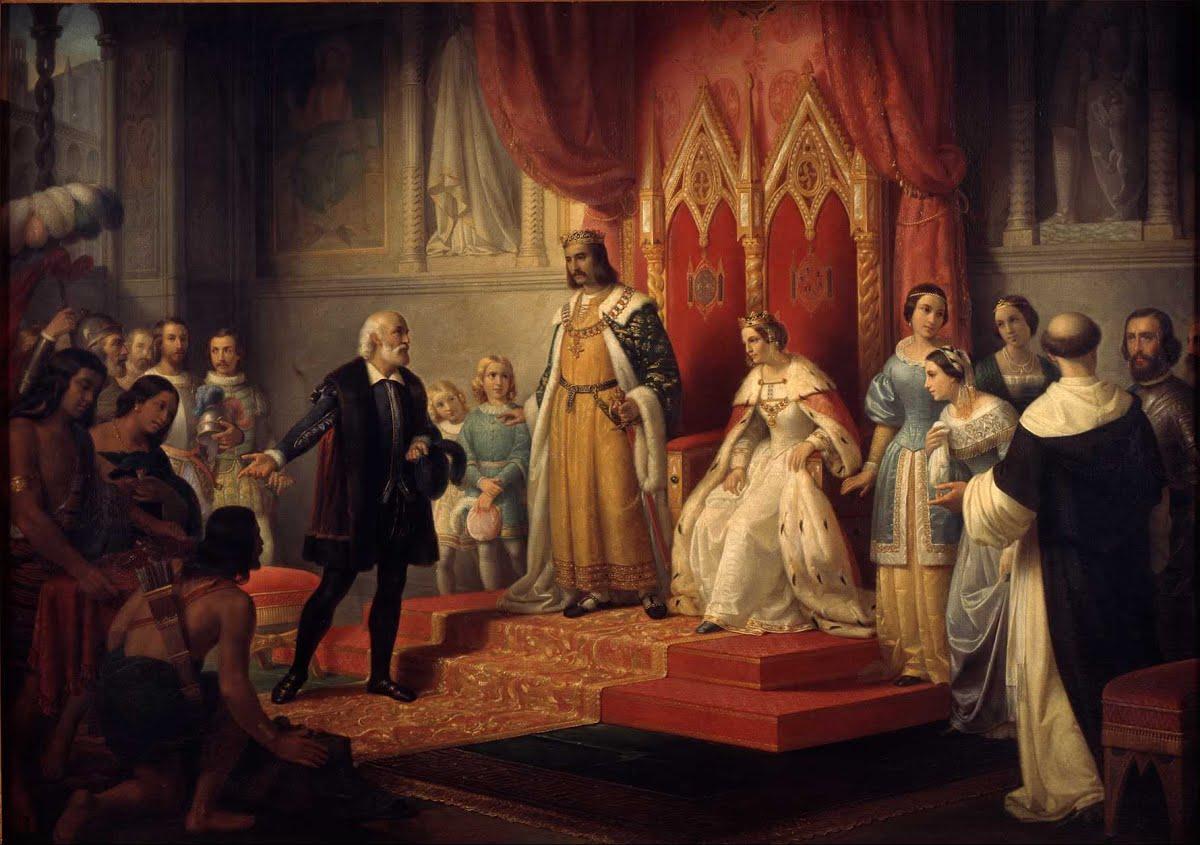 Cristopher Columbus at the Court of the Catholic Monarchs - Juan ...