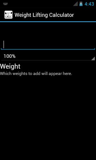 Weight Lifting Calculator