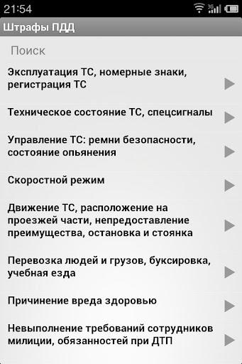 Штрафы ПДД demo
