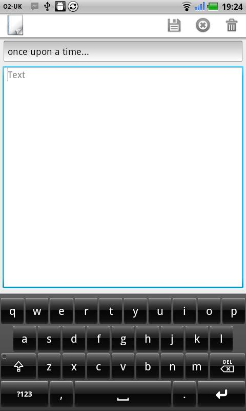 Notepad - screenshot