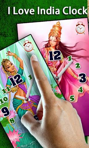 I Love India Clock Alarm LWP