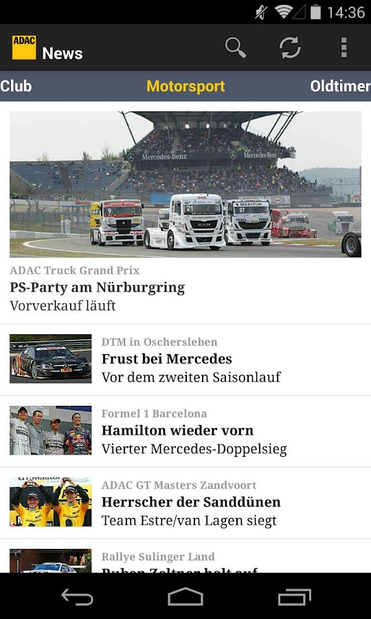 ADAC News - screenshot