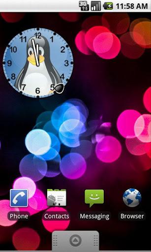 【免費個人化App】Tux Linux Clock Widget-APP點子