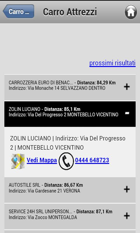 Cerca Carro Attrezzi - screenshot