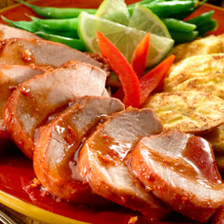 Pork with Guava Chipotle Sauce.