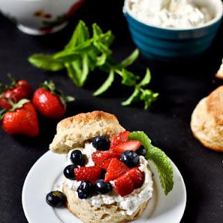 Boozy Strawberry Blueberry Vanilla Bean Shortcakes