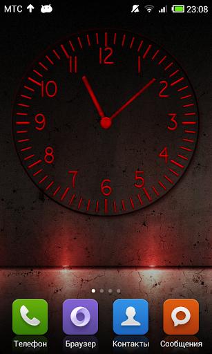 丸い透明な時計