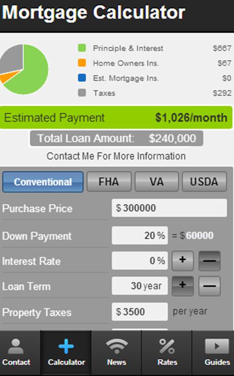 Carol DeFazio's Mortgage Mapp - screenshot