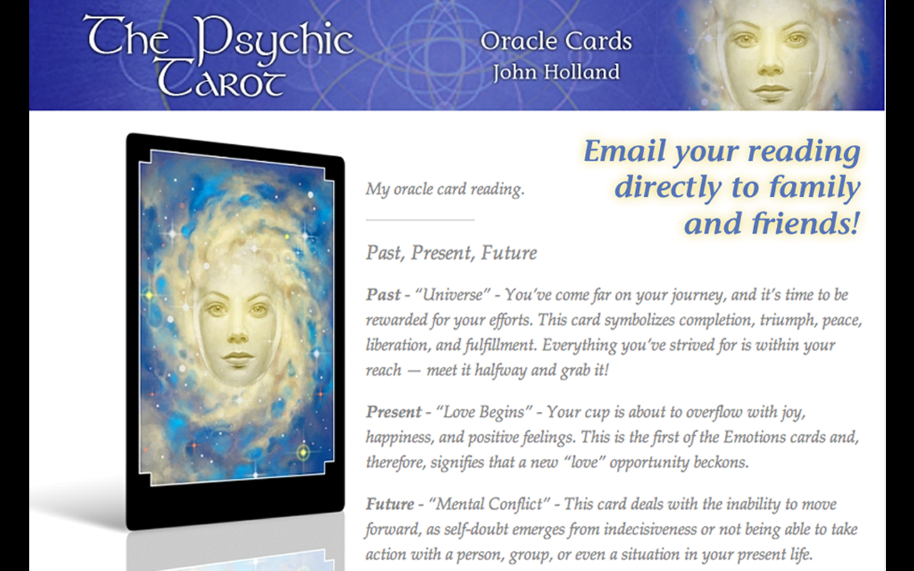 The Psychic Tarot Oracle Cards - screenshot