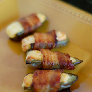 Bacon Wrapped Jalapeño Poppers.