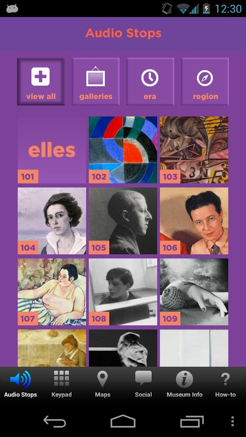 Elles at Seattle Art Museum- screenshot