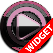 Poweramp widget BLACK Bordeaux