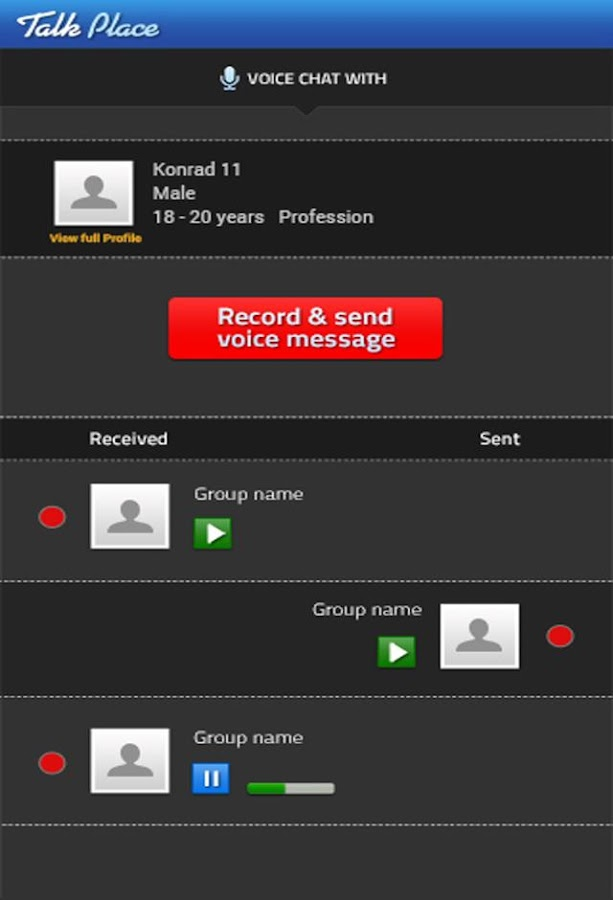 TALK PLACE+ Real Voice Chat- screenshot