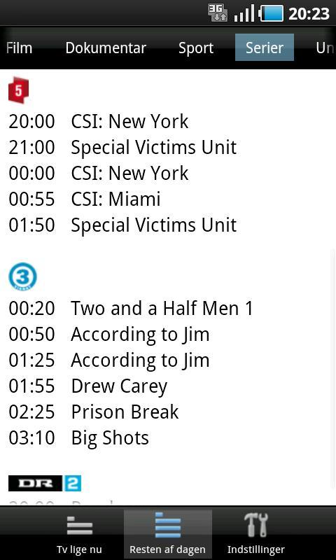Dansk TV-Oversigt - screenshot