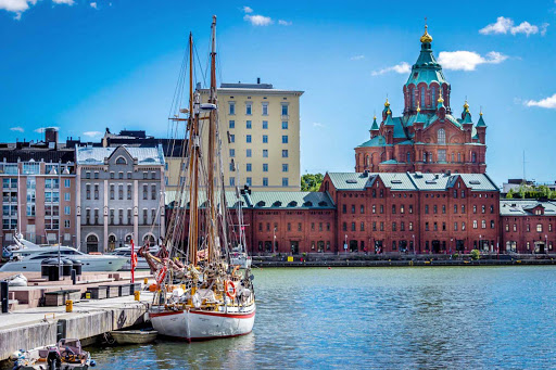 Uspneski Cathedral in Helsinki, Finland.