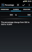 Screenshot of Percentage