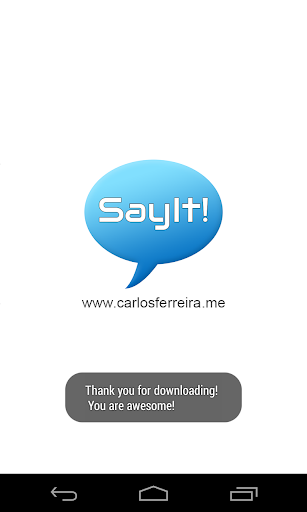 【免費通訊App】Say It! - Let Your Phone Speak-APP點子
