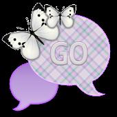 GO SMS - Mint Butterfly Sky