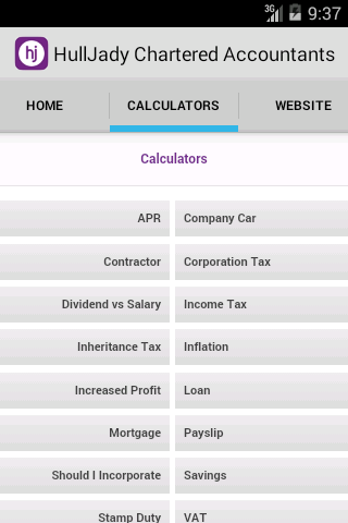 HullJady Chartered Accountants- screenshot