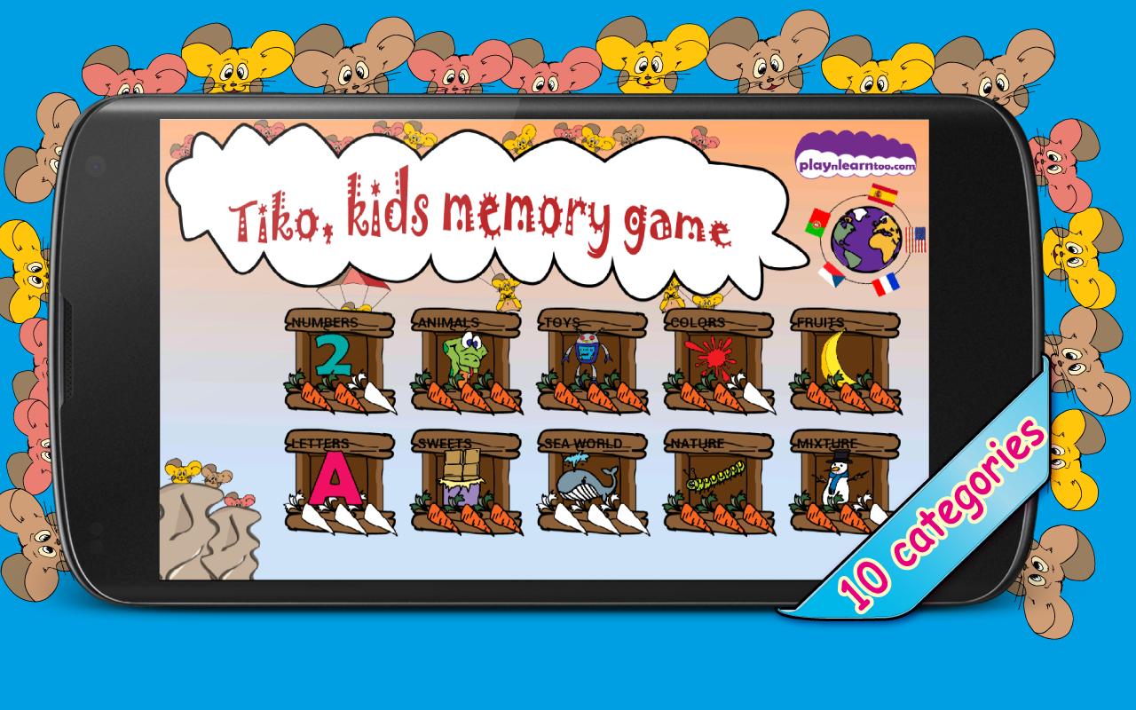 Tiko kids memory game Pro - screenshot