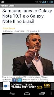 Notícias Brasil - screenshot thumbnail