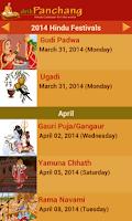 Screenshot of Hindu Calendar - Drik Panchang