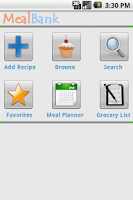 Screenshot of MealBank Pro:Recipes-> Grocery
