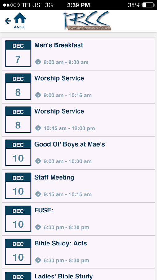 Riverside Community Church - screenshot