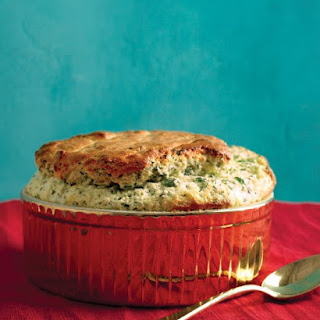 Spinach and Gruyere Souffle.