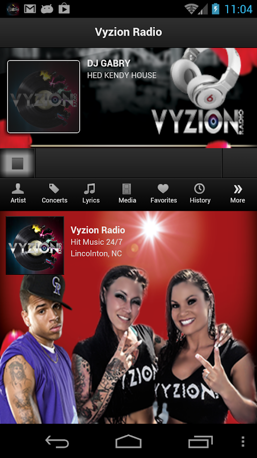 Vyzion Radio - screenshot