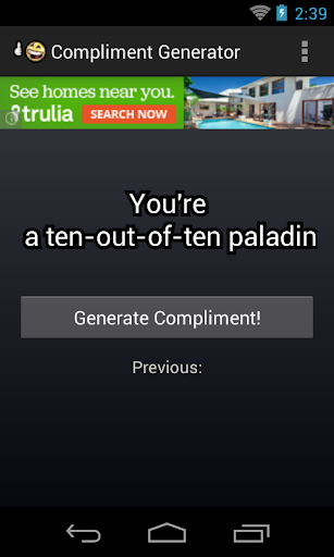 Compliment Generator