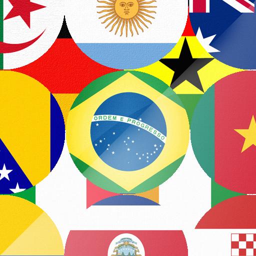 Flag World 2014 LOGO-APP點子