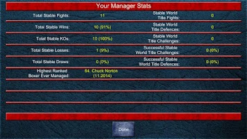 Screenshot of Boxing Manager Game 2
