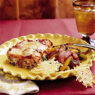 Cheesy Spinach Lasagna.