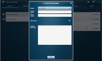 Screenshot of Tablet Business