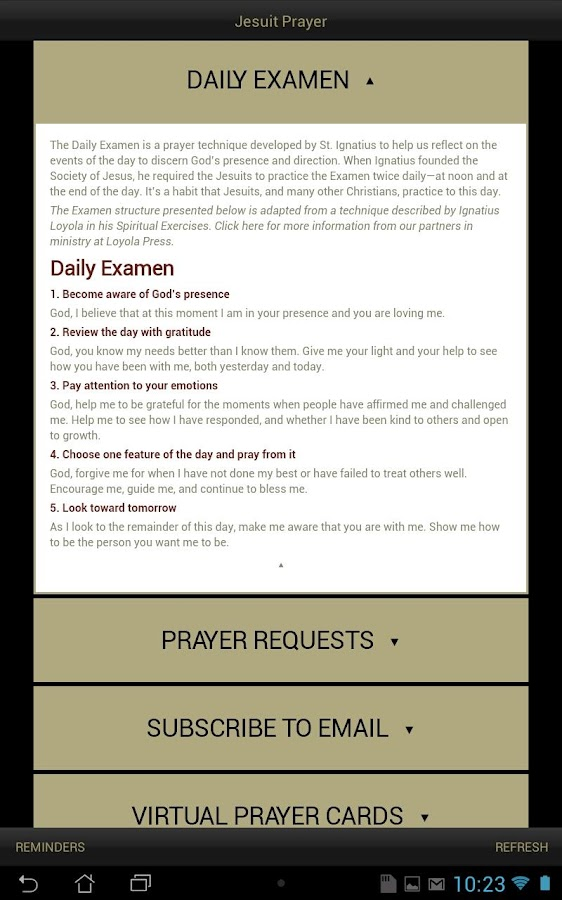 Jesuit Prayer - screenshot