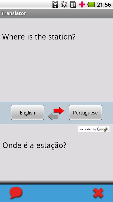 English - Portuguese (Brazil) - screenshot