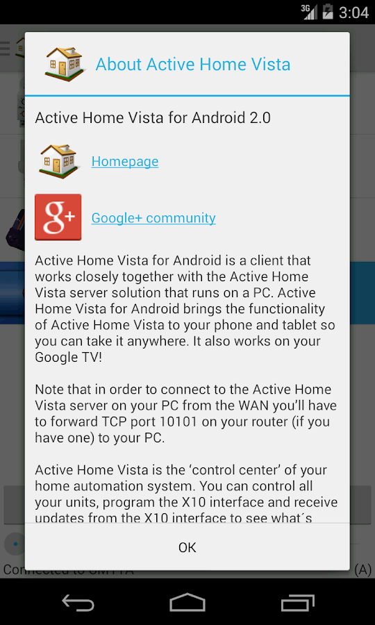 Active Home Vista- screenshot