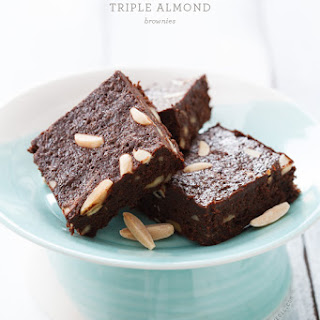 Triple Almond Brownies Recipe