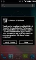 Screenshot of ICS White OSB Theme