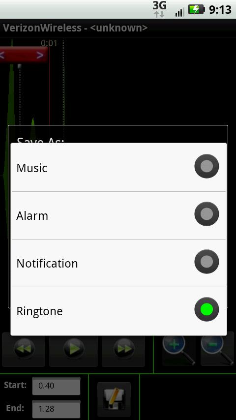 Ringtone factory - screenshot