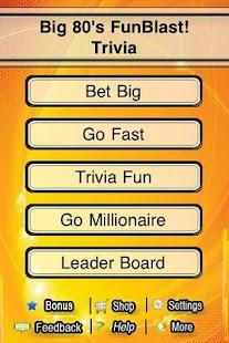 Big 80s FunBlast Trivia Quiz- screenshot thumbnail
