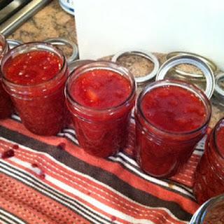 Apricot Ginger Raspberry Jam.