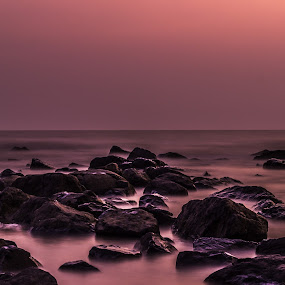 Do we require rocks at beach by Charanjit Singh - Landscapes Beaches ( sunset, beautiful, long exposure, beach, rocks )