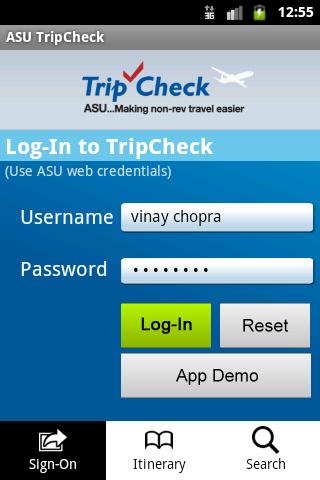 ASU TripCheck for 2.3+