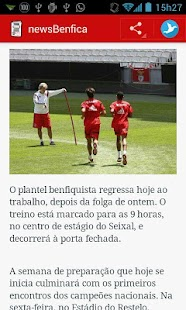 newsBenfica - screenshot thumbnail